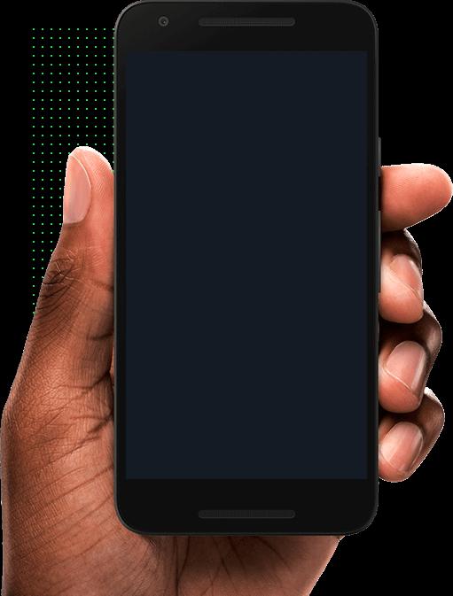 Mão com celular